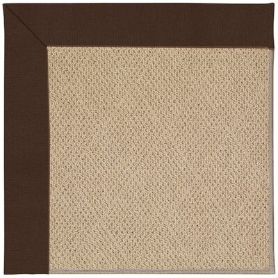 Zoe Machine Tufted Brown/Beige Indoor/Outdoor Area Rug Rug Size: Square 6
