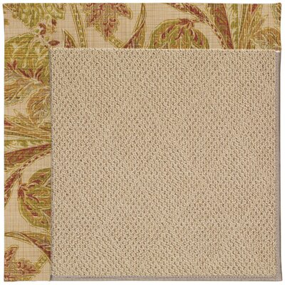 Zoe Machine Tufted Tan Indoor/Outdoor Area Rug Rug Size: Round 12 x 12