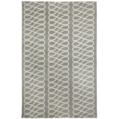 Cococozy Light Charcoal / Cream Twirl Area Rug Rug Size: 7 x 9