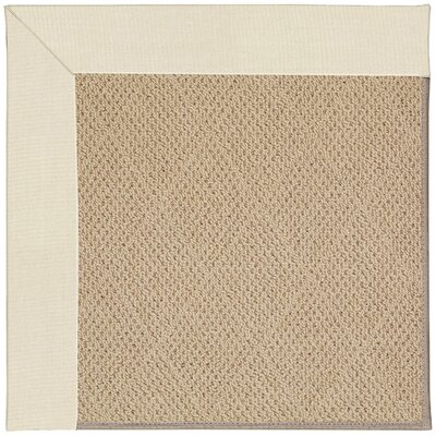 Zoe Machine Tufted Sandy and Brown Indoor/Outdoor Area Rug Rug Size: Round 12 x 12