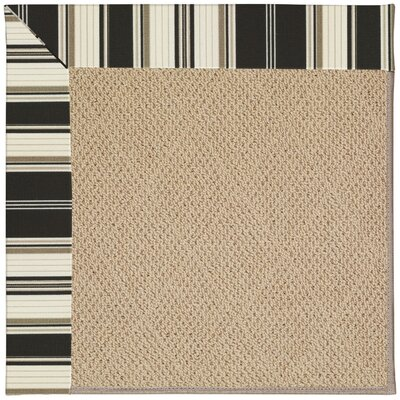 Zoe Machine Tufted Onyx/Brown Indoor/Outdoor Area Rug Rug Size: Square 8