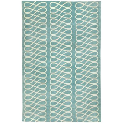 Cococozy Pale Blue/Ivory Geometric Area Rug Rug Size: 5' x 8'