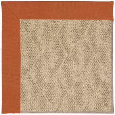 Zoe Machine Tufted Russett/Brown Indoor/Outdoor Area Rug Rug Size: Square 6