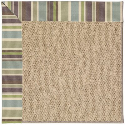 Zoe Machine Tufted Multi-colored/Beige Indoor/Outdoor Area Rug Rug Size: Square 10
