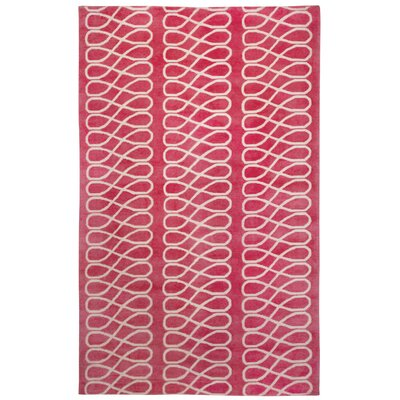 Cococozy Blush/Cream Geometric Area Rug Rug Size: 7 x 9