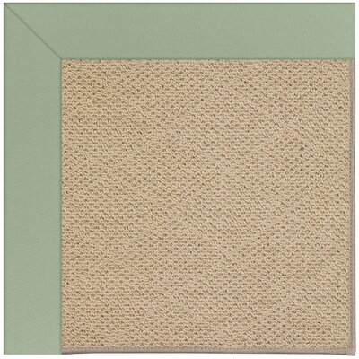 Zoe Machine Tufted Light Jade and Beige Indoor/Outdoor Area Rug Rug Size: Square 4
