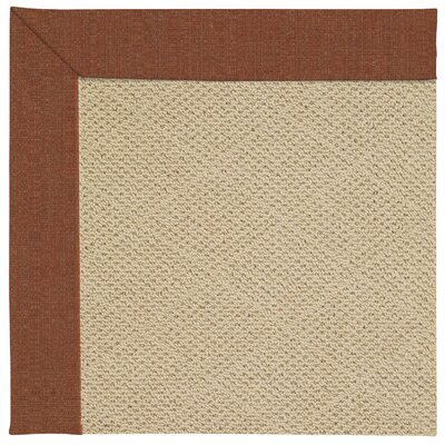 Zoe Machine Tufted Dried Chilis/Beige Indoor/Outdoor Area Rug Rug Size: Square 10