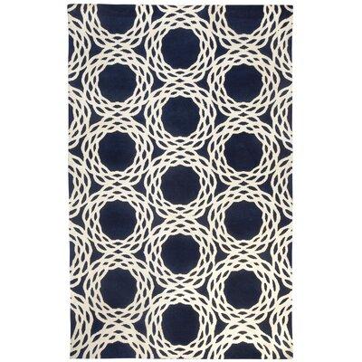 Cococozy Dark Blue / Ivory Princeton Area Rug Rug Size: 5 x 8