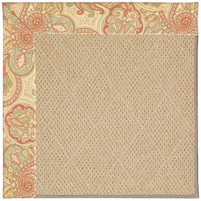Zoe Machine Tufted Auburn/Beige Indoor/Outdoor Area Rug Rug Size: Round 12 x 12