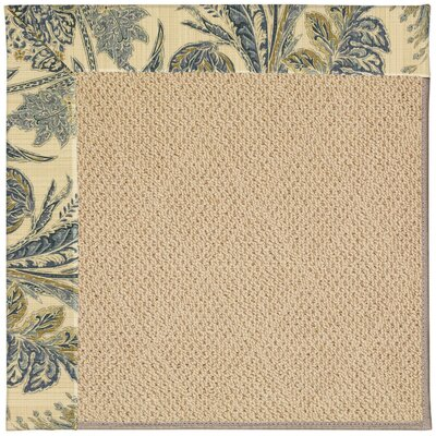 Zoe Machine Tufted High Seas/Beige Indoor/Outdoor Area Rug Rug Size: Round 12 x 12