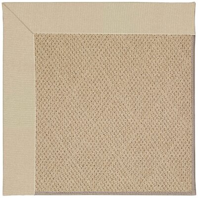 Zoe Machine Tufted Ecru/Beige Indoor/Outdoor Area Rug Rug Size: Round 12 x 12