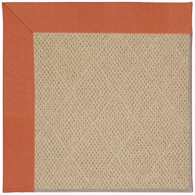 Zoe Machine Tufted Clay/Brown Indoor/Outdoor Area Rug Rug Size: Square 6'
