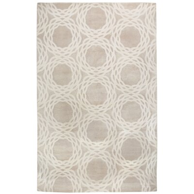 Cococozy Champagne / Ivory Princeton Area Rug Rug Size: 5 x 8