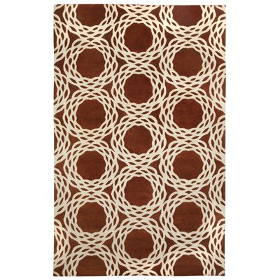 Cococozy Copper/Cream Oriental Area Rug Rug Size: 5 x 8