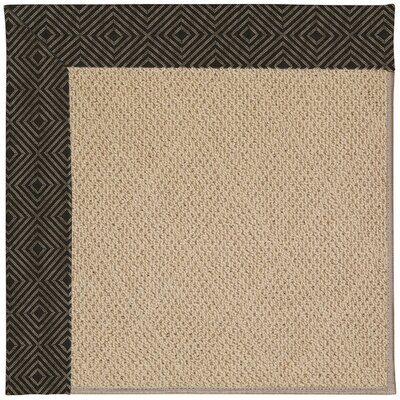 Zoe Machine Tufted Magma/Brown Indoor/Outdoor Area Rug Rug Size: Square 4
