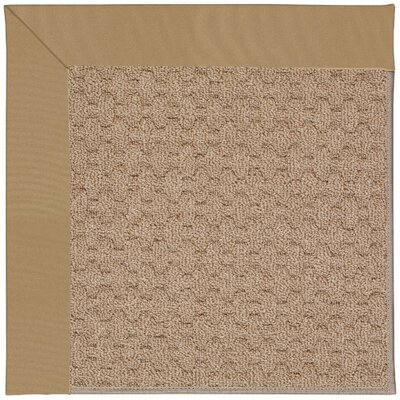 Zoe Grassy Mountain Machine Tufted Light Gold and Beige Indoor/Outdoor Area Rug Rug Size: Round 12 x 12