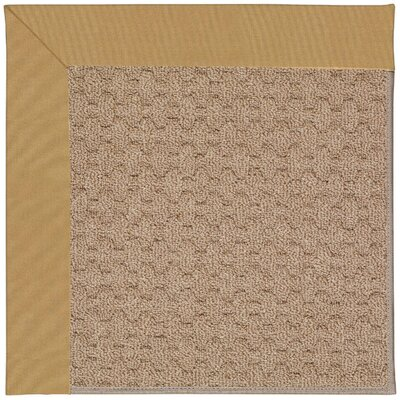 Zoe Grassy Mountain Machine Tufted Bronze/Brown Indoor/Outdoor Area Rug Rug Size: Square 10