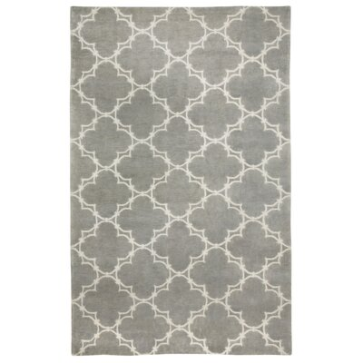 Cococozy Light Charcoal/Cream Geometric Area Rug Rug Size: 7 x 9