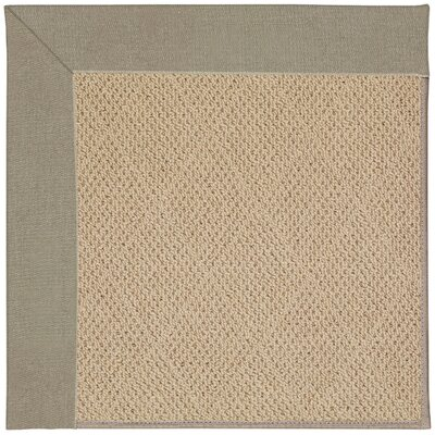 Zoe Machine Tufted Buff/Brown Indoor/Outdoor Area Rug Rug Size: Square 6