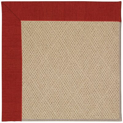 Zoe Machine Tufted Tomatoes and Beige Indoor/Outdoor Area Rug Rug Size: Square 8
