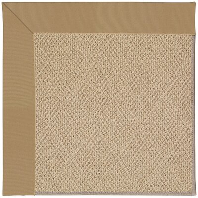 Zoe Machine Tufted Light Gold Indoor/Outdoor Area Rug Rug Size: Square 4
