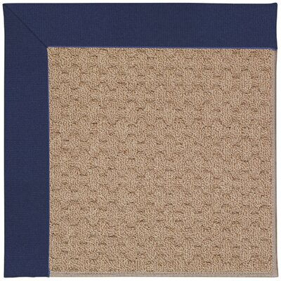 Zoe Grassy Mountain Machine Tufted Navy/Brown Indoor/Outdoor Area Rug Rug Size: Rectangle 7 x 9