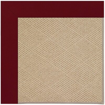 Zoe Machine Tufted Red/Beige Indoor/Outdoor Area Rug Rug Size: Square 8