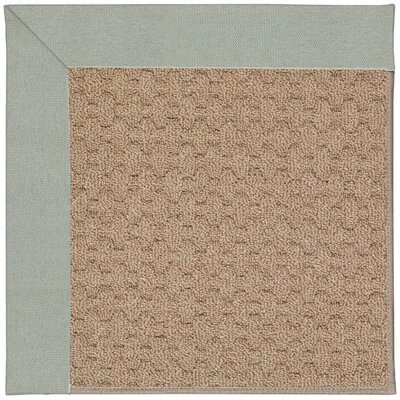 Zoe Grassy Mountain Machine Tufted Marine Blue and Beige Indoor/Outdoor Area Rug Rug Size: 12 x 15