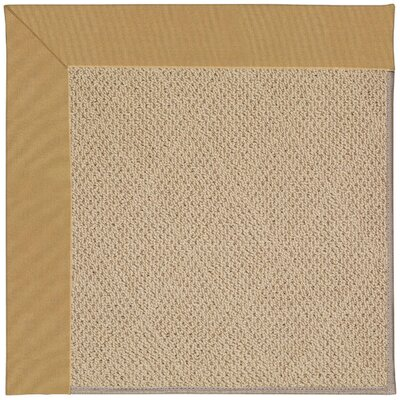 Zoe Machine Tufted Bronze/Brown Indoor/Outdoor Area Rug Rug Size: Square 6
