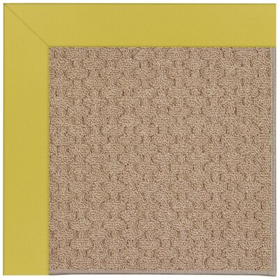 Zoe Grassy Mountain Machine Tufted Citronella and Beige Indoor/Outdoor Area Rug Rug Size: Round 12 x 12
