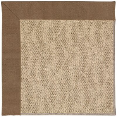 Zoe Machine Tufted Brown Indoor/Outdoor Area Rug Rug Size: Square 10