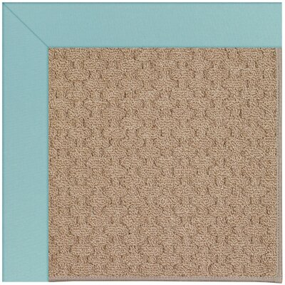 Zoe Grassy Mountain Machine Tufted Seafaring Blue/Brown Indoor/Outdoor Area Rug Rug Size: Round 12 x 12