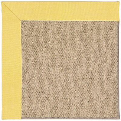 Zoe Machine Tufted Yellow/Brown Indoor/Outdoor Area Rug Rug Size: 3 x 5