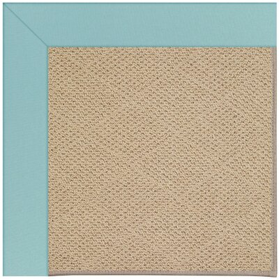 Zoe Machine Tufted Seafaring Blue/Brown Indoor/Outdoor Area Rug Rug Size: Round 12 x 12