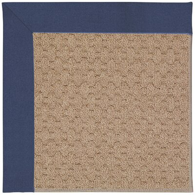 Zoe Machine Tufted Blue/Brown Indoor/Outdoor Area Rug Rug Size: 7 x 9