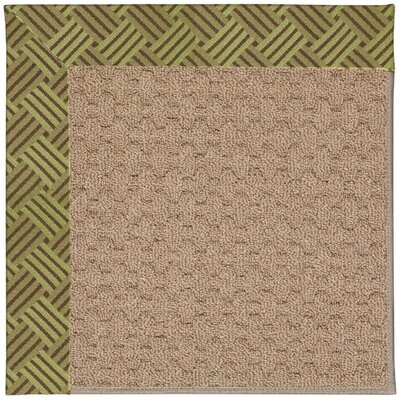 Zoe Grassy Mountain Machine Tufted Mossy Green and Beige Indoor/Outdoor Area Rug Rug Size: Round 12 x 12