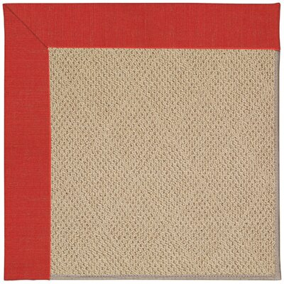 Zoe Machine Tufted Red Crimson/Brown Indoor/Outdoor Area Rug Rug Size: Square 8