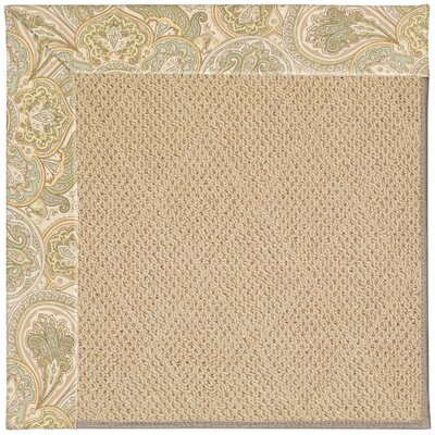 Zoe Machine Tufted Quarry/Brown Indoor/Outdoor Area Rug Rug Size: Square 6