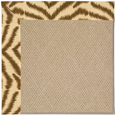 Zoe Machine Tufted Tawny and Beige Indoor/Outdoor Area Rug Rug Size: Square 10
