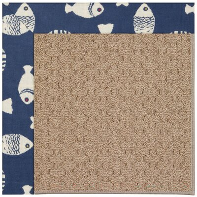 Zoe Grassy Mountain Machine Tufted Pitch and Beige Indoor/Outdoor Area Rug Rug Size: Round 12 x 12
