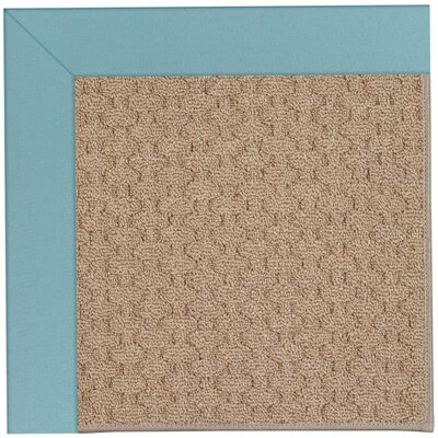 Zoe Grassy Mountain Machine Tufted Bright Blue/Brown Indoor/Outdoor Area Rug Rug Size: Round 12 x 12