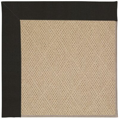 Zoe Machine Tufted Ebony/Brown Indoor/Outdoor Area Rug Rug Size: Square 8'