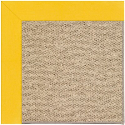 Zoe Machine Tufted Summertime Yellow Indoor/Outdoor Area Rug Rug Size: Round 12 x 12