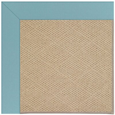 Zoe Machine Tufted Bright Blue/Brown Indoor/Outdoor Area Rug Rug Size: Round 12 x 12