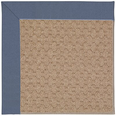 Zoe Grassy Mountain Machine Tufted Azure/Brown Indoor/Outdoor Area Rug Rug Size: Square 4