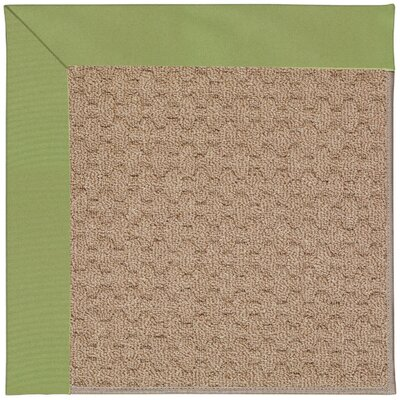 Zoe Grassy Mountain Machine Tufted Green Indoor/Outdoor Area Rug Rug Size: Square 6