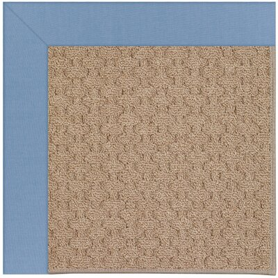 Zoe Grassy Mountain Machine Tufted Blue/Brown Indoor/Outdoor Area Rug Rug Size: 4 x 6