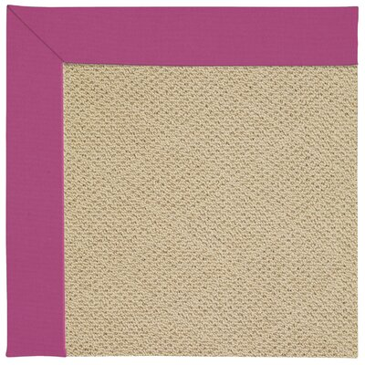 Zoe Machine Tufted Fuchsia/Beige Indoor/Outdoor Area Rug Rug Size: Square 4