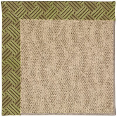 Zoe Machine Tufted Mossy Green/Brown Indoor/Outdoor Area Rug Rug Size: Round 12 x 12
