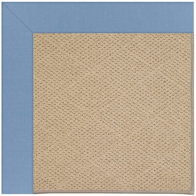Zoe Machine Woven Blue/Beige Indoor/Outdoor Area Rug Rug Size: Round 12 x 12